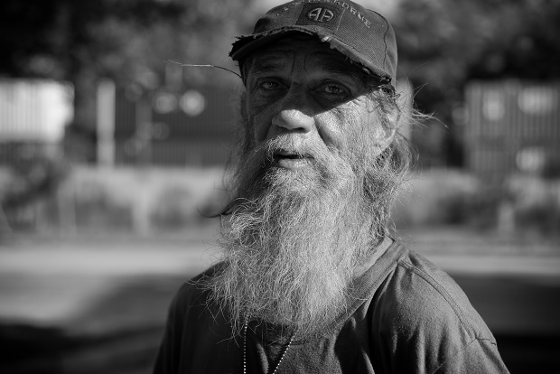 A Homeless Veteran in the United States