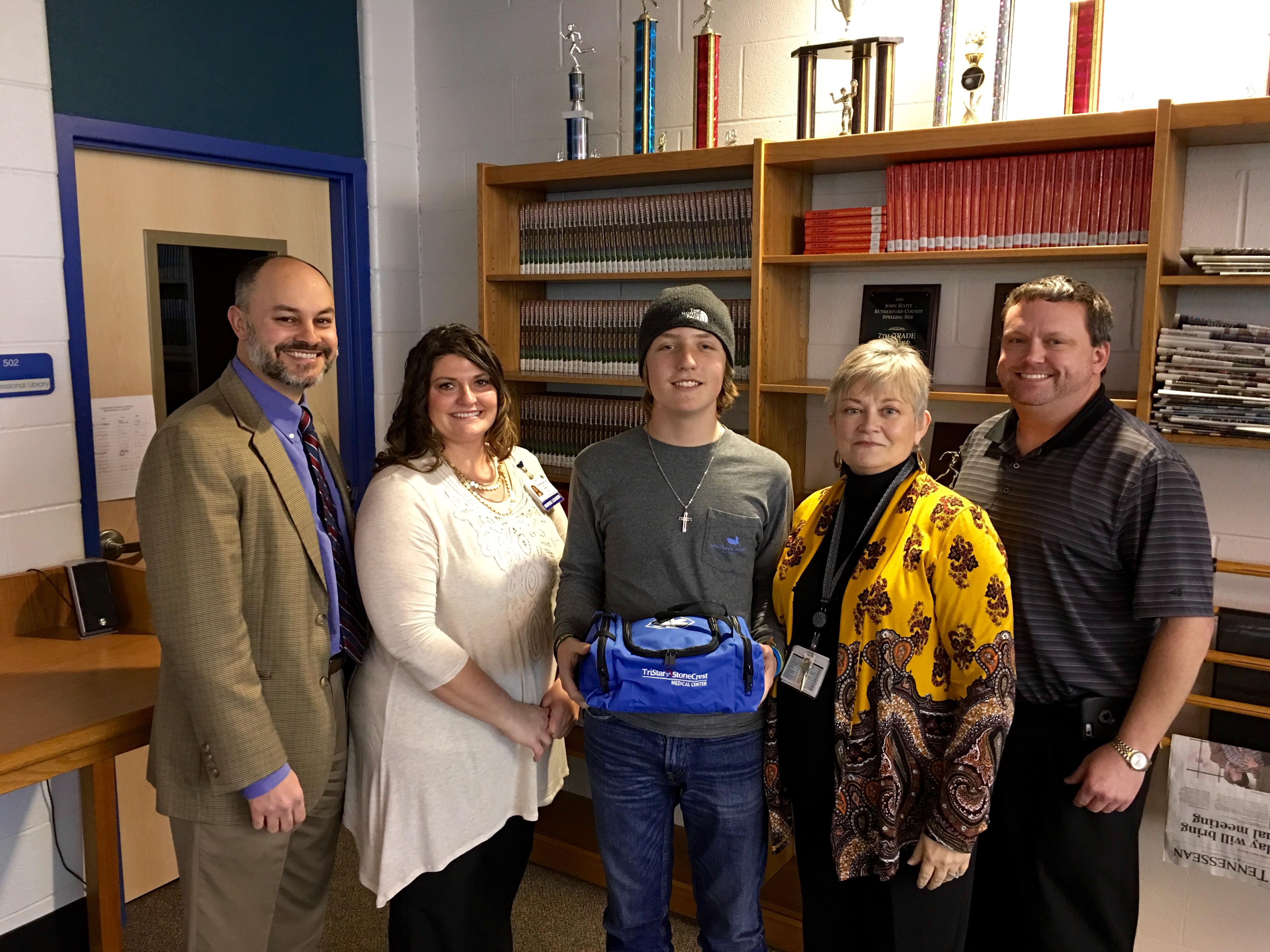 Siegel Middle presented Victory-Bratcher First Aid Emergency Responder Bag
