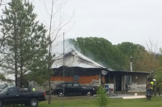 Walter Hill House Fire on Monday morning