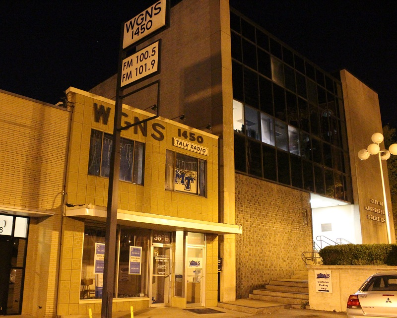 WGNS has OFFICE space available downstairs, 2,000 square feet