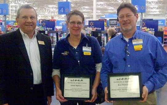 Walmart in Murfreesboro Recognized by Friends of Stones River National Battlefield
