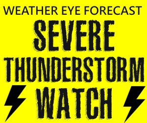 Severe Thunderstorm Watch Until 10pm
