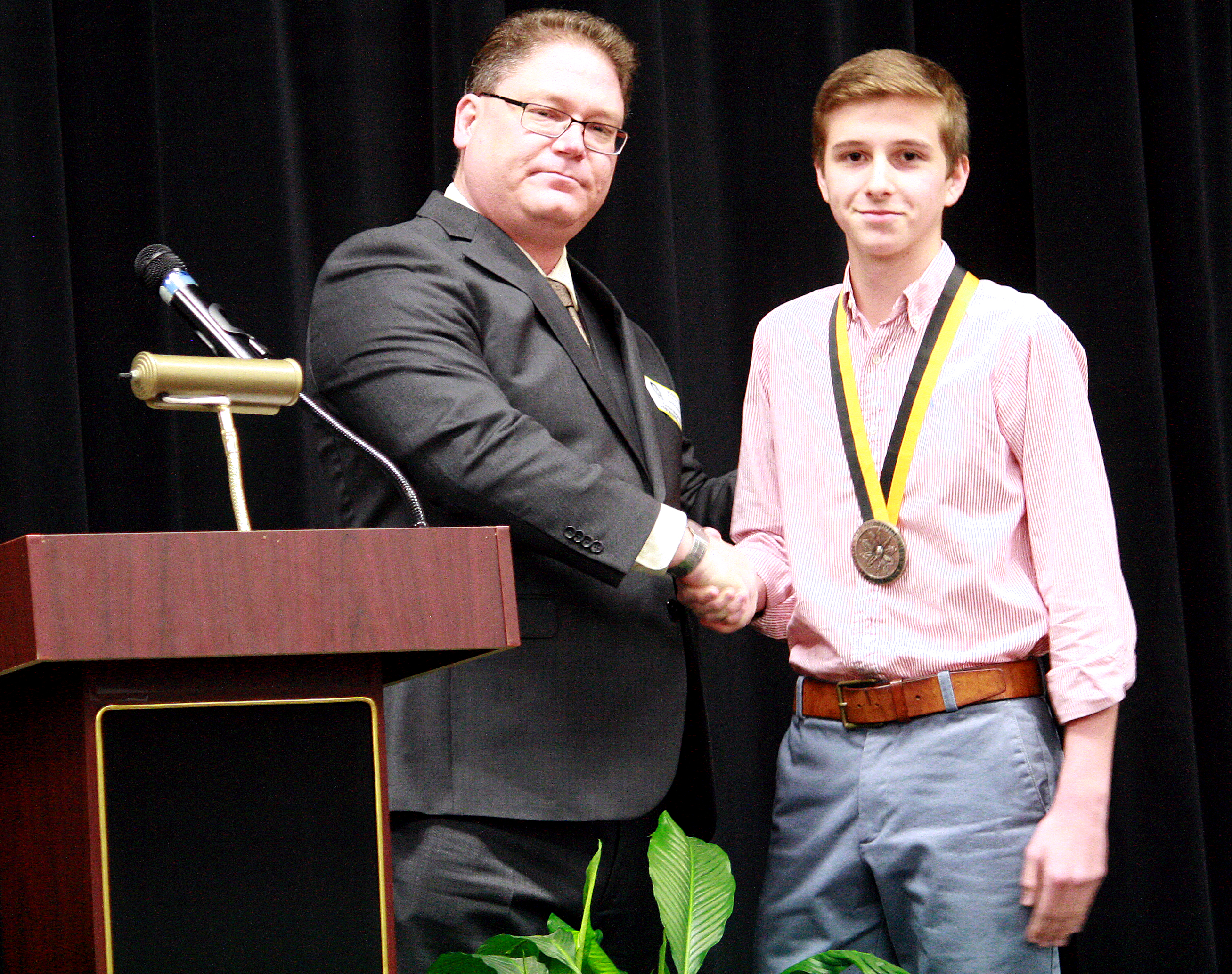Central student receives gold medallion, scholarship, trip to D.C. for volunteer award