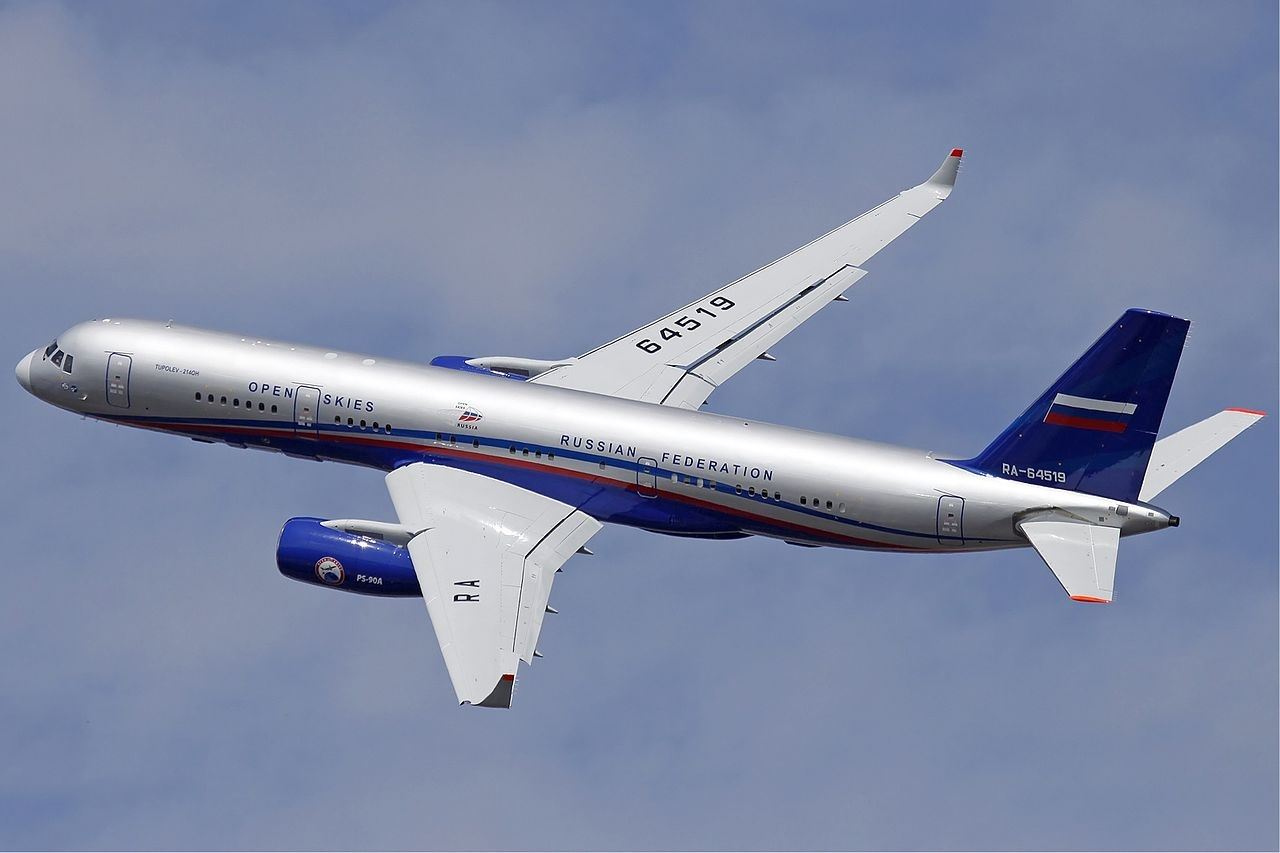 Russian aircraft flies over AEDC for observation flight