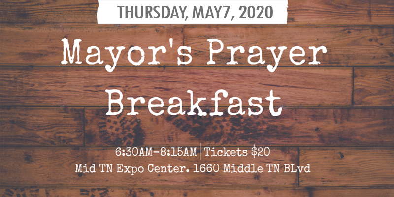 Mayor's Prayer Breakfast in Murfreesboro