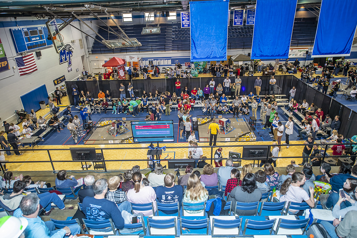MTSU's Alumni Memorial Gym and parts of the Voorhies Engineering Technology building will be the filled with technology, energy and excitement...