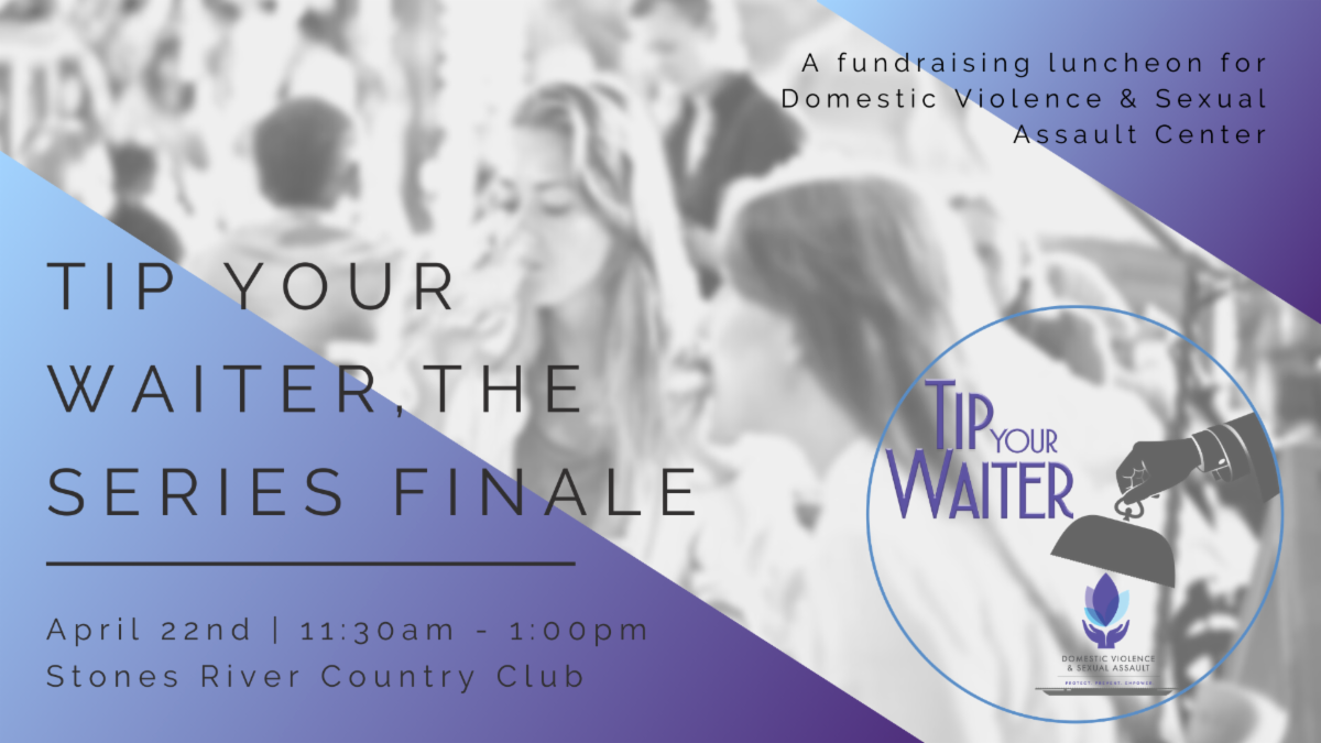 Announcing Tip Your Waiter, a 16th annual luncheon event