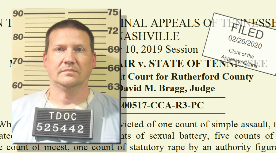 Sex Offender Convicted in Murfreesboro DENIED Post Conviction Relief, Again
