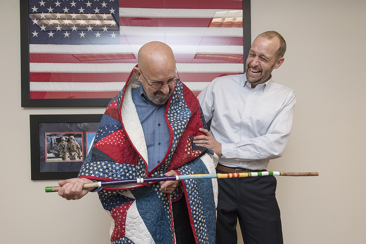 Vietnam vet, Purple Heart recipient receives Quilt of Valor from MTSU