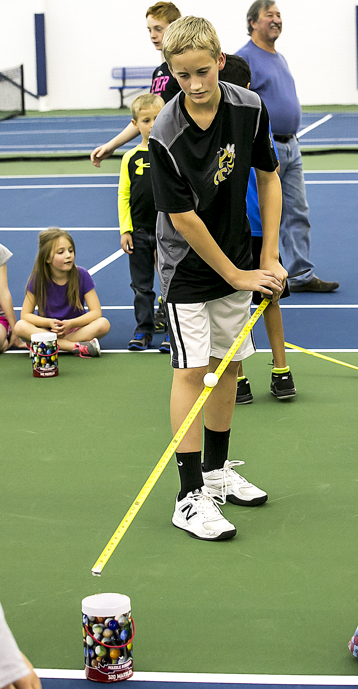 New $5.8 Million Indoor Tennis Complex held a Holiday Party for Murfreesboro Children