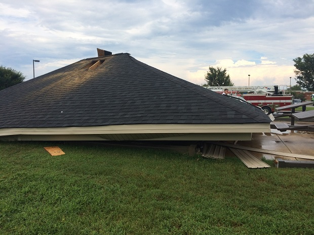 Pavillion Collapses at John Pittard Elementary School
