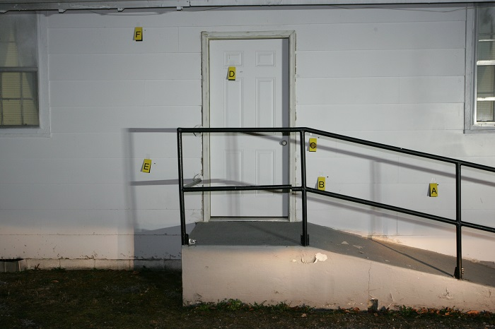 Who fired shots into two Rutherford County churches?