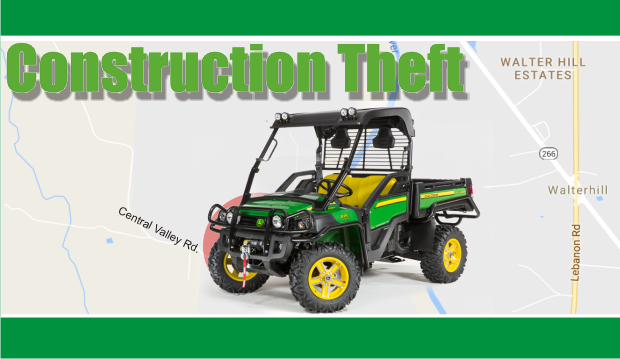 ATV and tools stolen from a Murfreesboro Greenway Construction Site