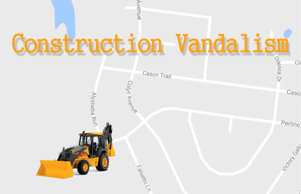 Three teens accused of vandalizing a backhoe in Cason Lane area