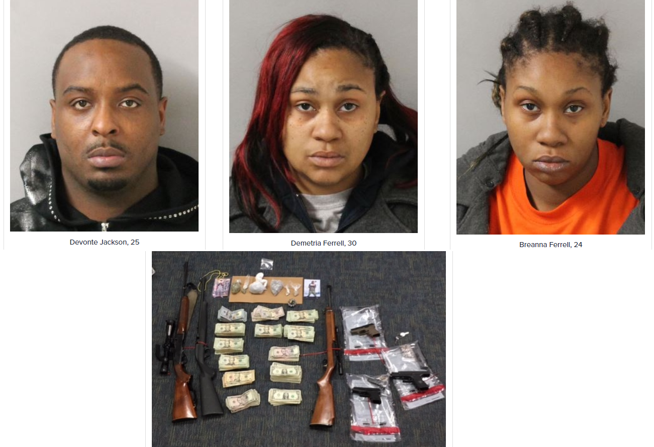 NASHVILLE: Guns, Heroin, and Cocaine Recovered from Hickory Trace Cove Residence