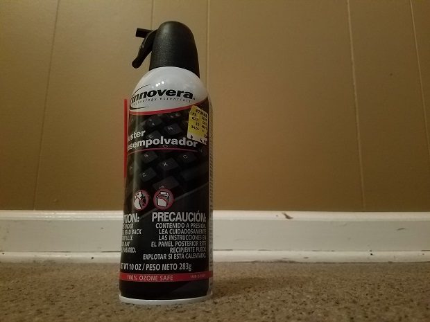 Dangerous habit - Inhaling spray duster