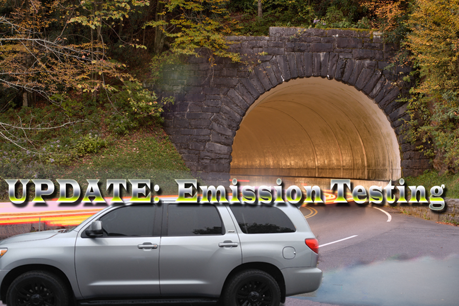 Notice of Suspension of Vehicle Emissions Testing