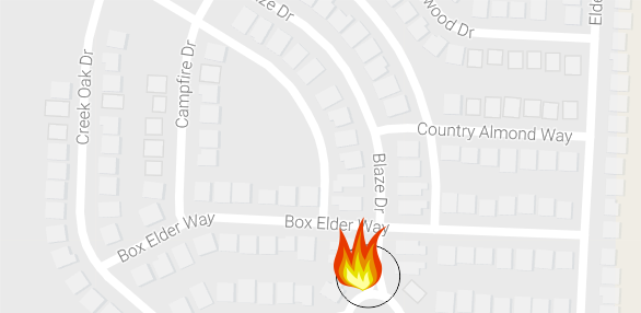 Fire at 3418 Blaze Drive