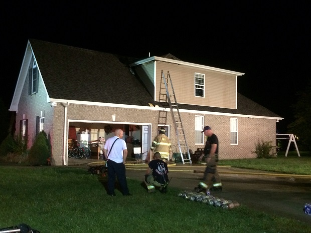 Murfreesboro Fire and Rescue Responded to Fire Caused by Lightning Strike