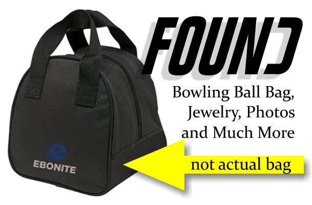 Found: Black bowling ball bag loaded with loot