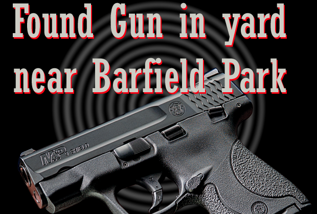 Stolen  handgun found in backyard of Barfield area home