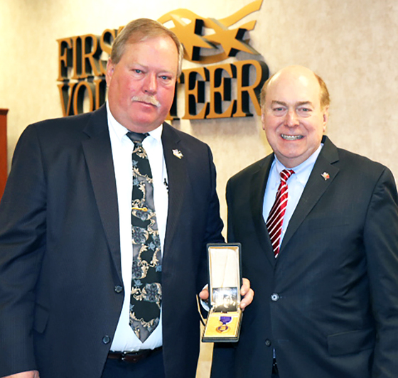 Tennessee State Treasurer David H. Lillard, Jr., and the Division of Unclaimed Property  Return Purple Heart