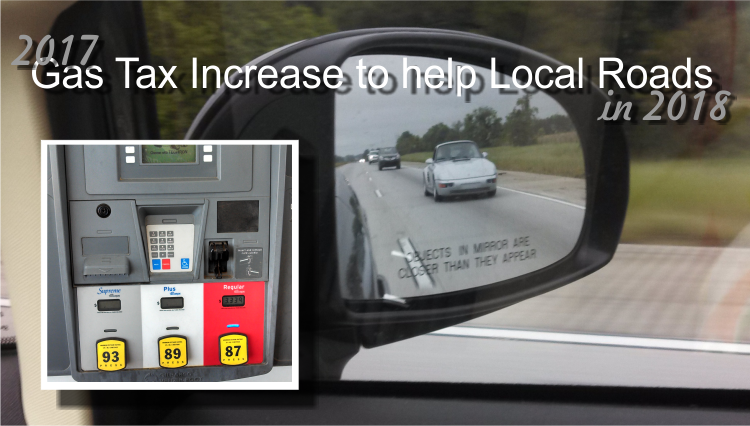 Roads in the County to receive additional funding through 2017 gas tax increase