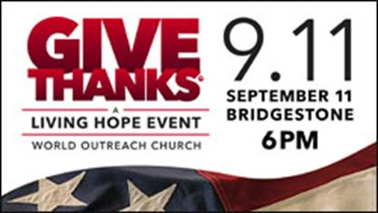 Mike Huckabee, Eric Metaxas and Michael W. Smith Coming To Give Thanks Nashville Bridgestone Arena On September 11
