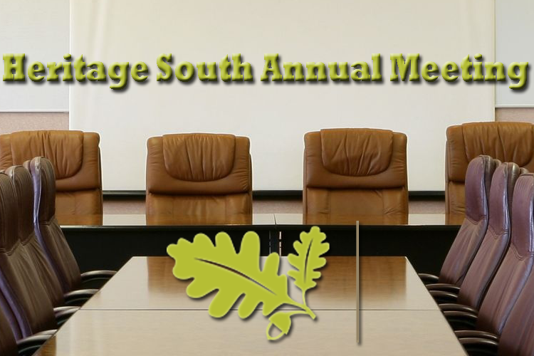 Heritage South Annual Meeting this Saturday