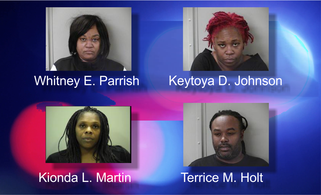Four arrested and accused of thefts at Victoria's Secret, Osh Kosh, Children's Place and Ross