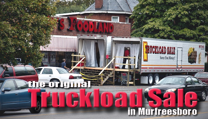 Unique Truckload Grocery Sale - You walk inside the refrigerated trucks