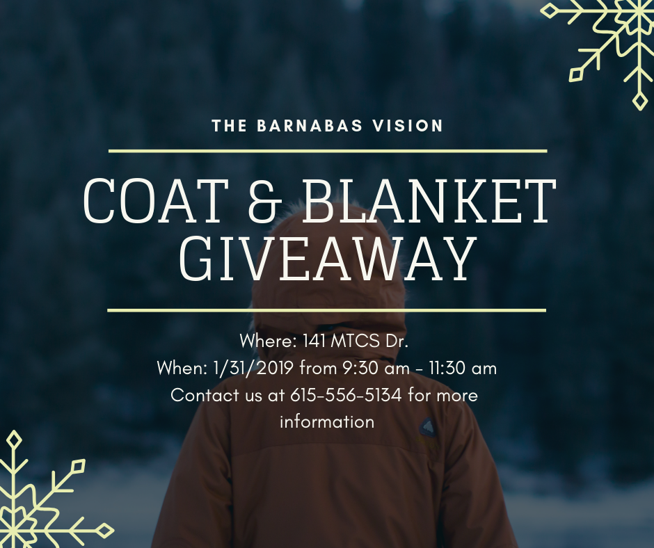 FREE Coats and Blankets for those in Need on 1/31/19