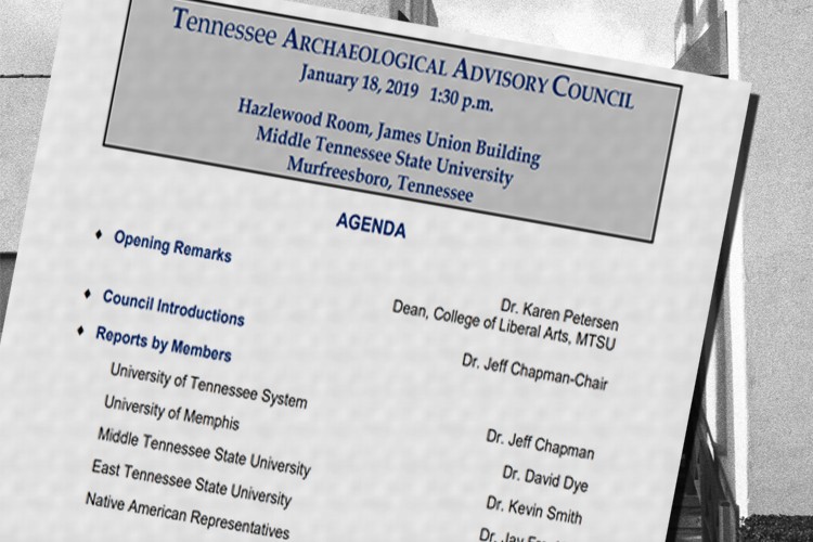 TDEC To Host Archaeology Conference at MTSU January 18-19