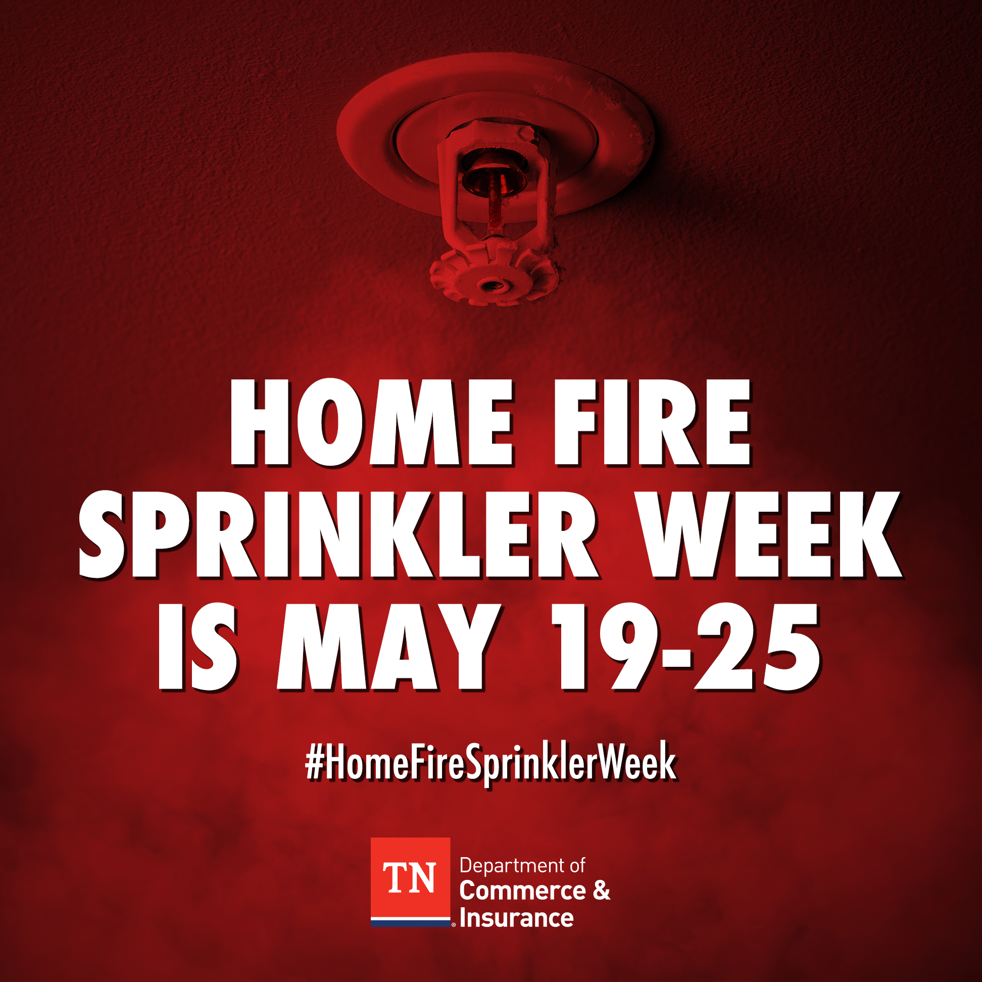 Home Fire Sprinkler Week Is May 19-25, 2019