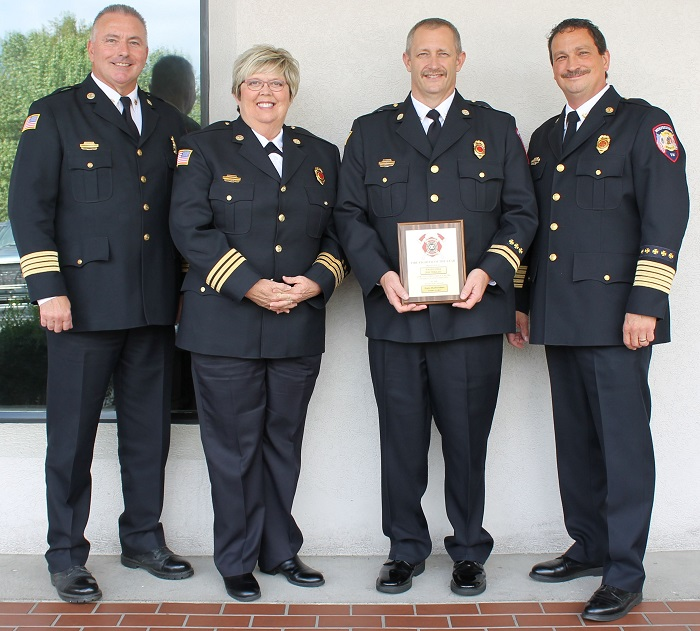 Murfreesboro Fire Training Coordinator Named Noon Exchange Club Firefighter of the Year
