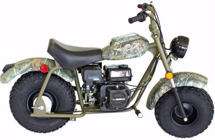 Camo colored mini bike stolen from Murfreesboro store
