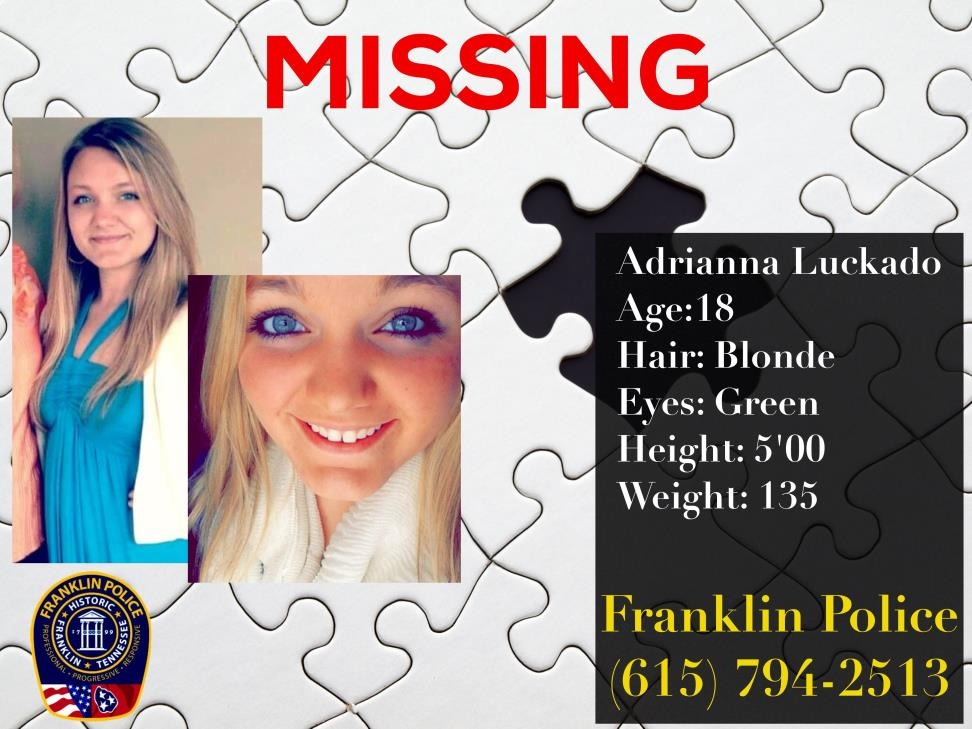 Missing Middle Tennessee Teen