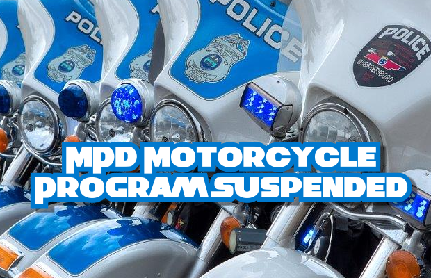 Murfreesboro Police SUSPEND MOTORCYCLE Program