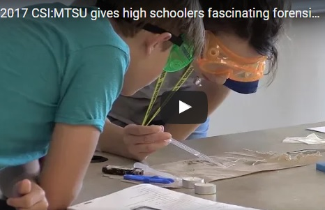 MTSU summer camp provides fascinating forensic experience for high schoolers