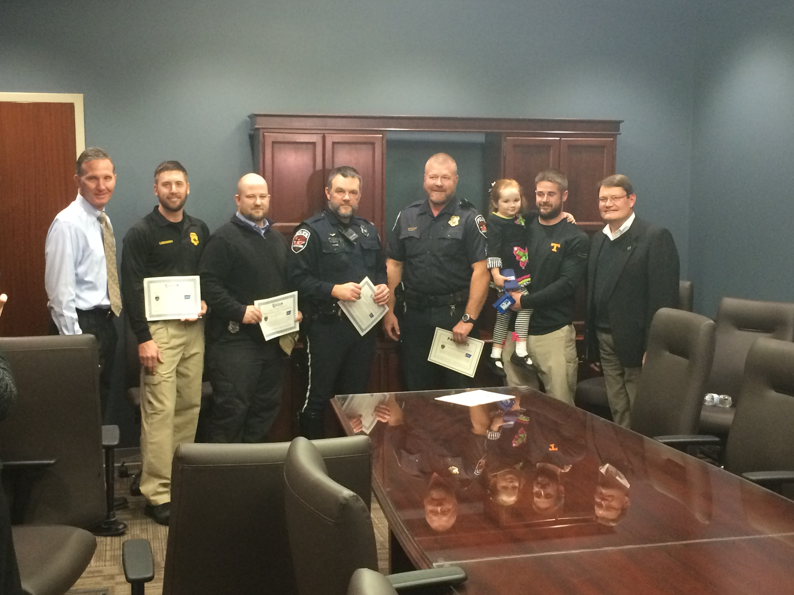 Officers grow beards for charity; Donate over $1,400 to American Cancer Society