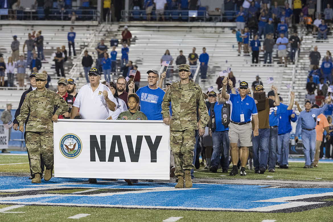 37th MTSU Salute to Armed Forces game Nov. 2 recognizes veterans