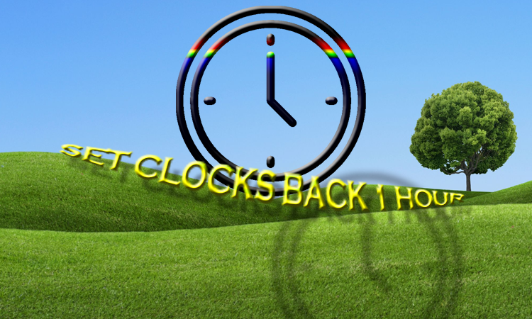 SUNDAY: Set your clocks BACK one hour