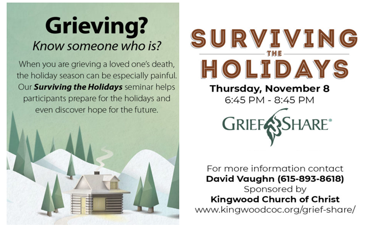 Surviving the Holidays After the Death of a Loved One - Murfreesboro Help