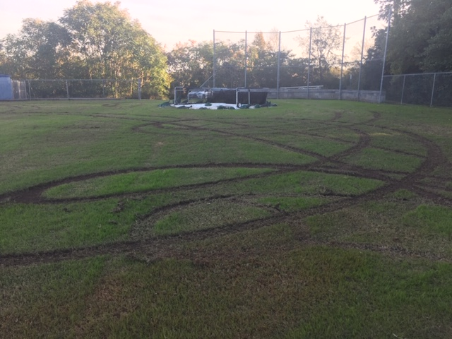 Vandals Destroy Rock Springs Middle School Baseball Field