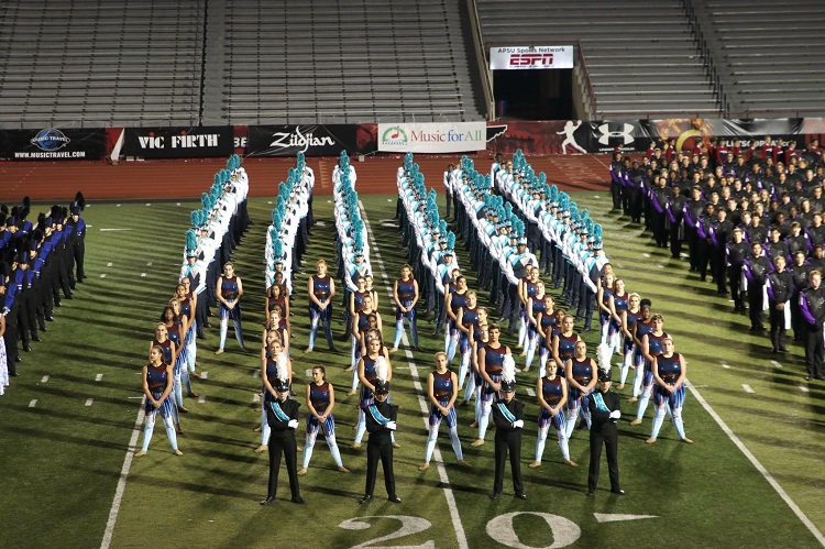 Siegel High School Marching Band at the Bands of America Grand National Championship