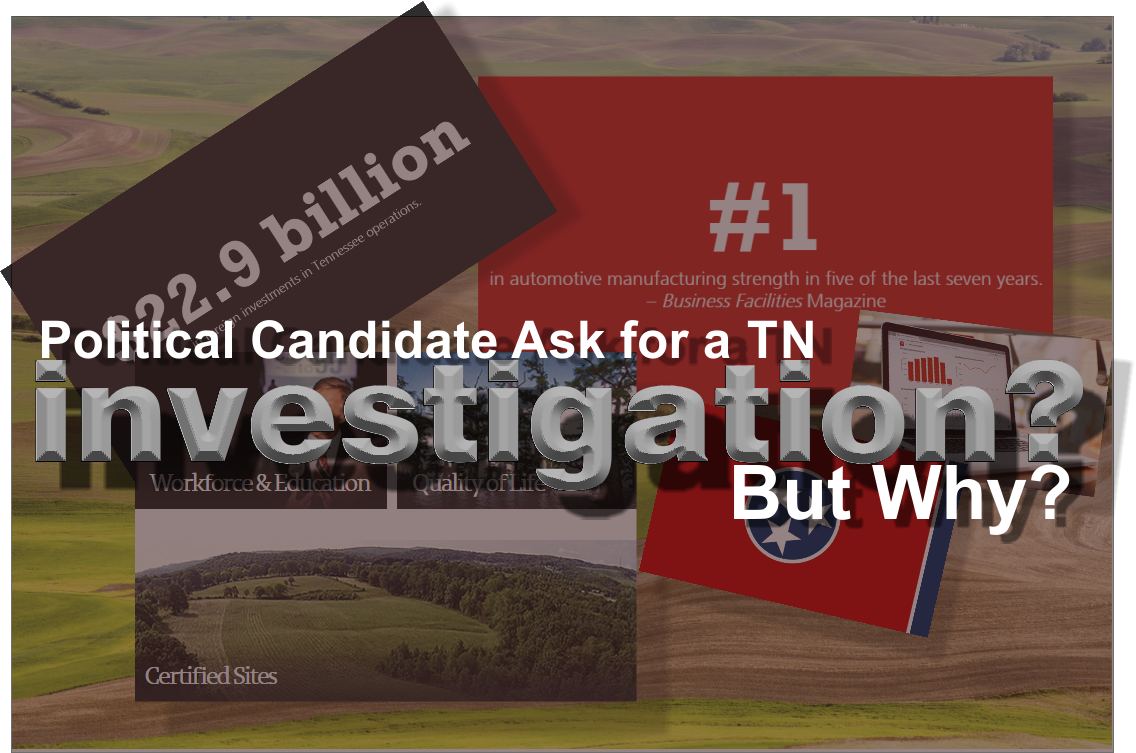 State Senate Candidate Joe Carr calls for an investigation into spending / grant process at TN Department of Economic and Community Development