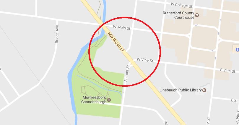 Possible Pedestrian Bridge in Downtown Murfreesboro