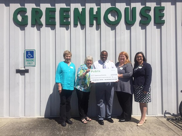 Greenhouse Ministries Receives $20,814.23 from Publix