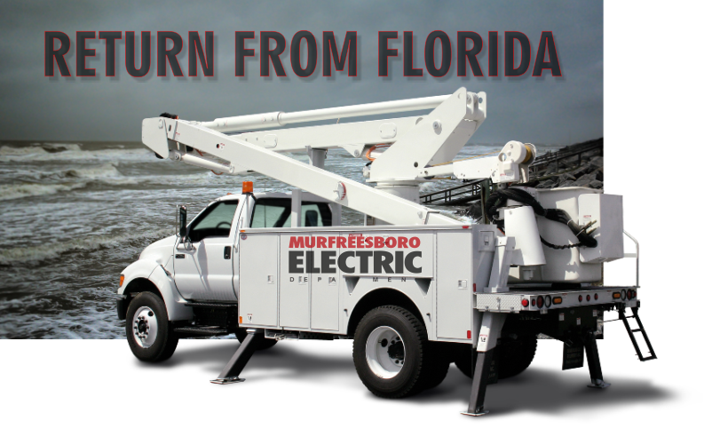 Murfreesboro Electric Crews to return for Hurricane Ravaged Florida this week