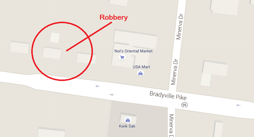 Store robbed at knife point in Murfreesboro on Bradyville Pike